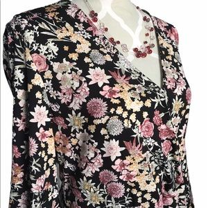 🇨🇦Boho Floral Dress With Bell Sleeves